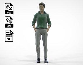 3D print model N1 Standing or waiting 1 64 Miniature