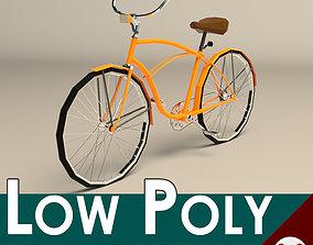 3D model Low Poly Vintage Cruiser Bike