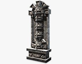 Aztec stone artefact wall 3D model