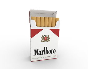 smoke 3D model Marlboro Cigarette Box