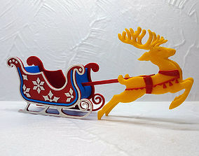 Flying Christmas Deer 3D print model