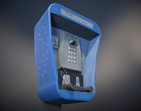 Stylized Payphone 3D model