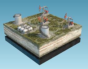3D model Oil Pumpjack fuel tanks