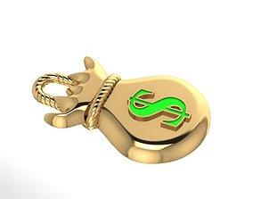 Money Bag Pendant 3D print model pendant