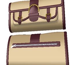 Stylish clutch SC-7 3D model