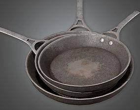 Frying Pan 01 KTC - PBR Game Ready 3D model