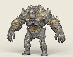Game Ready Fantasy Stone Monster 3D model