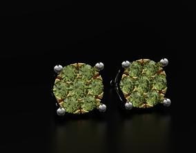 Beautiful earrings studs with diamonds 3D printable model