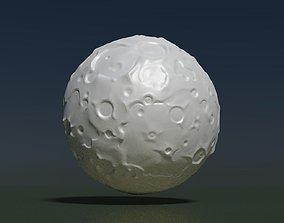 Moon high Poly 3D printable model