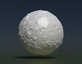 Moon high Poly 3D printable model