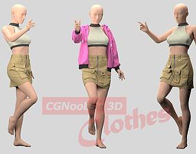 Women Mini Skirt and Sport Bra - 35 Marvelous Designer 1