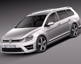 Volkswagen Golf VII R Variant 2015 3D