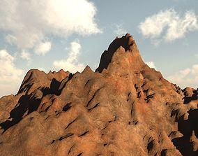 3D model Prehistoric Volcano Low Poly