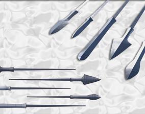 3D print model Japanese arrow head set 3
