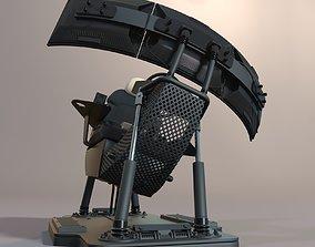 Car simulator 3D model