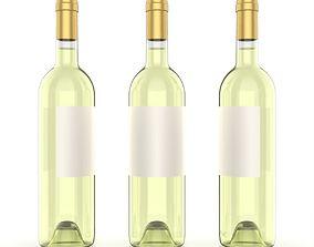Wine bottle 3D model keyshot