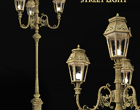 Vintage London Street light 3D model
