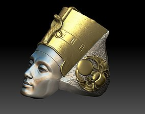 3D print model Egyptian Queen Nefertiti ring