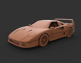 ferrari f40 3D print model