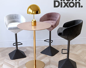 3D tom dixon The bar chair