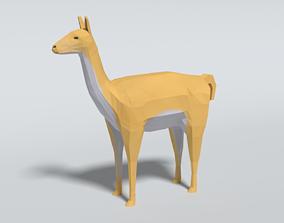 3D model Low Poly Cartoon Llama Guanaco