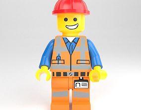 3D LEGO minifigure - Construction worker