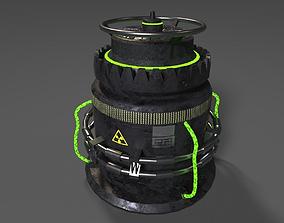 Spacecraft Sci-fi Reactor 3D asset