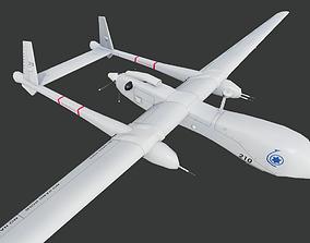 Heron TP UAV Low-poly 3D model
