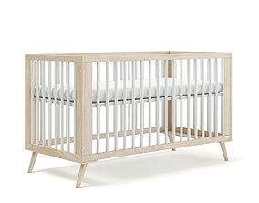 Wooden Baby Bed 3D