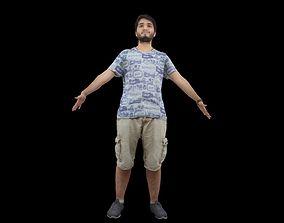 Young man T pose A pose 3D