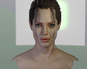 3d model Angelina Jolie head