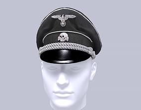 WWII german SS officer visor cap 3D