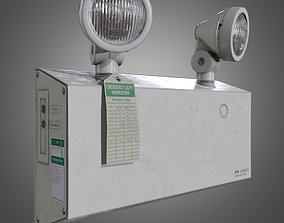 Indoor Emergency Light - PBR Game Ready 3D model