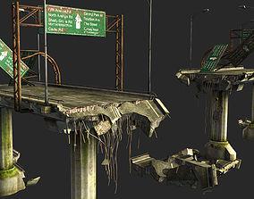 3D asset low-poly Bridge
