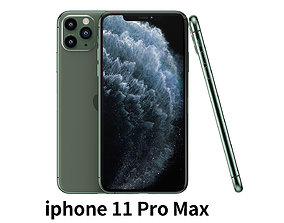 2019 Apple iphone 11 Pro max mobile phone 3D