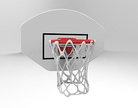 hoop with net 3D asset low-poly