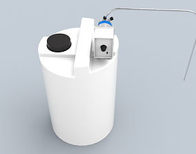 3D asset VR / AR ready Chemical tank with emec dosing pump