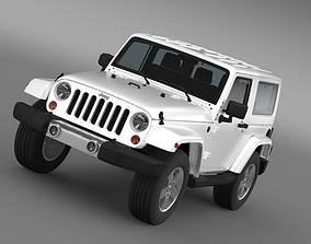 3D model Jeep Wrangler 2011