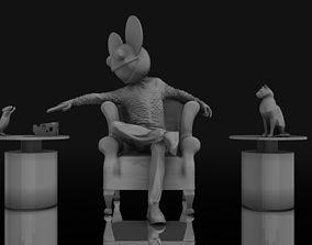Deadmau5 On Chair Gun Aim at Mice 3D printable model
