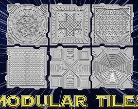 3D print model Modular tiles