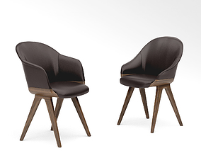 Potocco Lyz chair 918 and Lyz armchair 918 3D