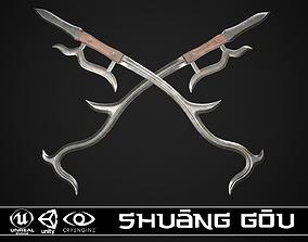 Shuang Gou 2 3D asset