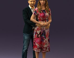 Man and woman hugs 0444 3D print model