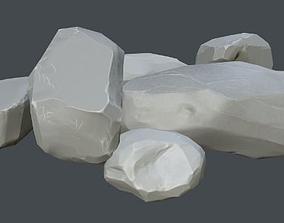 Gameready stones 3D asset