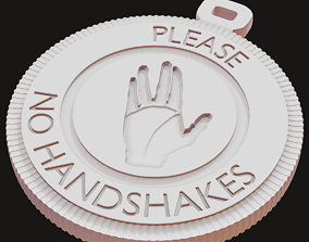 3D printable model No Handshakes icon Pendant