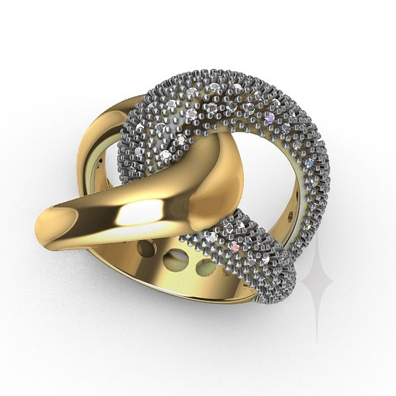 Ring female Chain diamond