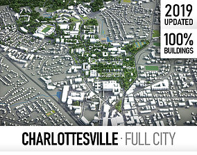 3D model Charlottesville - city and surroundings
