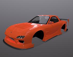 3D model Mazda RX-7 FD3s BN-Sports bodykit