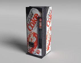 Coca-Cola Vending Machine 3D asset