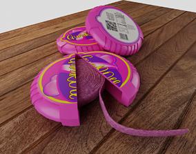 Gum roll nostalgia gum candy 3D model